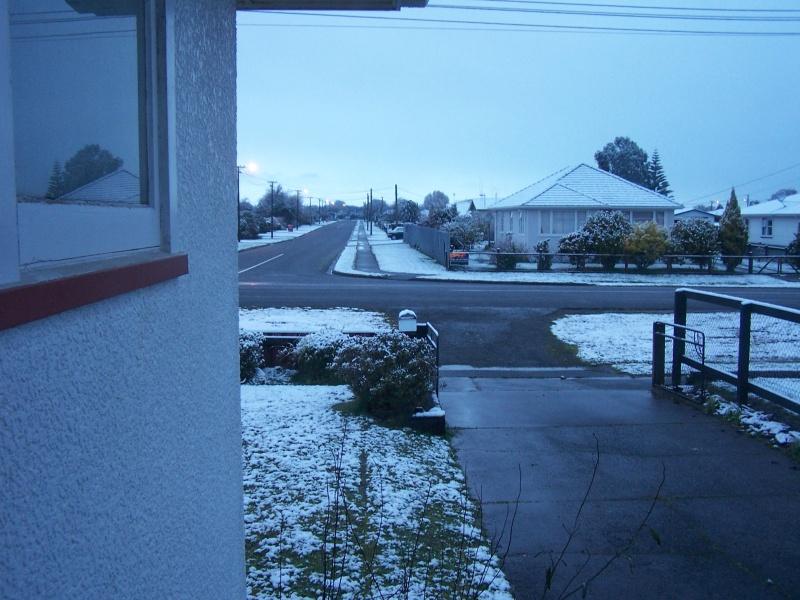View down the driveway
